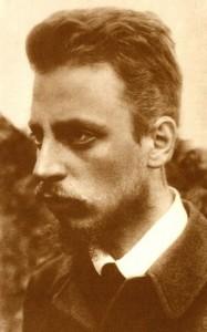 Rainer Maria Rilke, Foto, um 1900 (Quelle: Wikipedia, gemeinfrei)